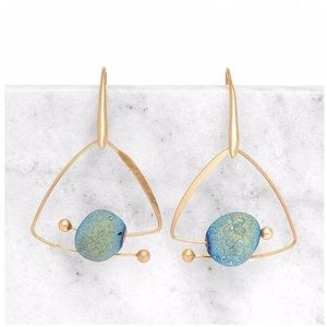 NEW Diadem Galaxy Stone Earrings